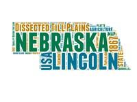 Nebraska Word Cloud Map Fine-Art Print