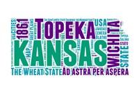 Kansas Word Cloud Map Fine-Art Print