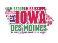 Iowa Word Cloud Map Fine-Art Print