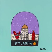 Atlanta Snow Globe Fine-Art Print