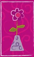 Red Flower in Purple Pot Fine-Art Print