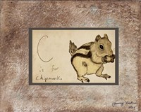 C is For Chipmunk Fine-Art Print