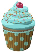 Chocolate Cupcake Blue Fine-Art Print