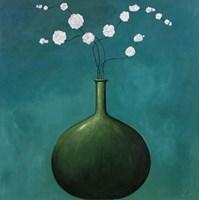Vase on Blue Fine-Art Print