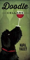 Doodle Wine II Black Dog Fine-Art Print