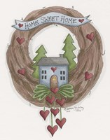 Sweet Home Wreath Fine-Art Print