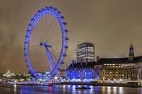 Blue Ferris Wheel Fine-Art Print