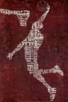 Type Basketball Red Fine-Art Print