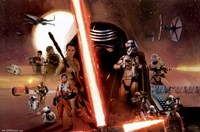 Star Wars 7 TFA - Group Fine-Art Print