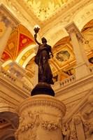 USA, Washington DC, Library of Congress interior with sculpture Fine-Art Print