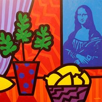 Still Life With Matisse and Mona Lisa Fine-Art Print
