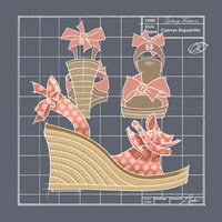 Galaxy Shoes - Espadrille Coral Dot Fine-Art Print