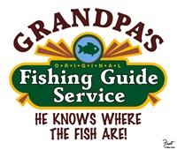 Grandpa's Fishing Guide Service Fine-Art Print