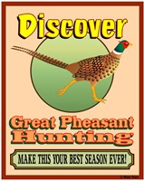 Discover Pheasant Hunting Fine-Art Print