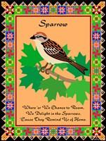 Sparrow Quilt Fine-Art Print