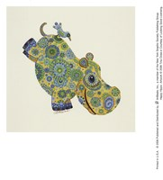 Happy Hippo Fine-Art Print