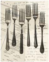 Cutlery Forks in Sepia Fine-Art Print