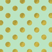 Golden Mint Dots Fine-Art Print
