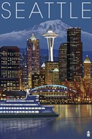 Seattle Night Fine-Art Print