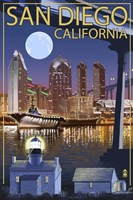 San Diego Night Fine-Art Print