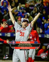 Max Scherzer celebrates his 2nd No-Hitter of the season- October 3, 2015 Fine-Art Print