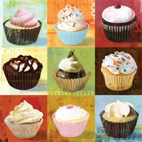Cupcake 9-Patch Fine-Art Print