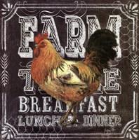 Chalkboard Rooster Farm Table Fine-Art Print