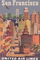 Fly to San Francisco I Fine-Art Print
