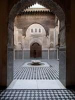 Al-Attarine Madrasa built by Abu al-Hasan Ali ibn Othman, Fes, Morocco Fine-Art Print