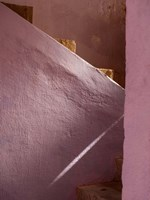 Pink Painted Stairway near Ouarzazate, Morocco Fine-Art Print