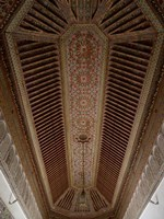 Highly Decorated Roof of Palais Bahia, Marrakesh, Morocco Fine-Art Print