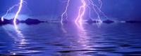 Lightning over the sea Fine-Art Print