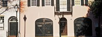 Historic houses in Rainbow Row, Charleston, South Carolina Fine-Art Print