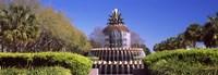 Pineapple fountain in a park, Waterfront Park, Charleston, South Carolina, USA Fine-Art Print