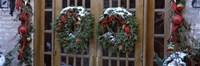 Christmas Wreaths on Doors Fine-Art Print