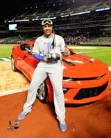 Salvador Perez with the World Series MVP Trophy Game 5 of the 2015 World Series Fine-Art Print