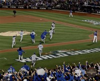 The Kansas City Royals celebrate winning Game 5 of the 2015 World Series Fine-Art Print