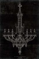 Ornamental Metal Work Chandelier Fine-Art Print
