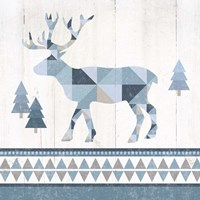 Nordic Geo Lodge Deer IV Fine-Art Print