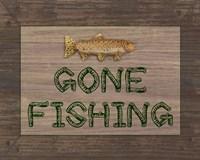 Gone Fishing Sign Fine-Art Print