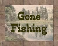 Gone Fishing Lake Sign Fine-Art Print