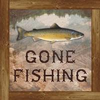 Gone Fishing Salmon Sign Fine-Art Print