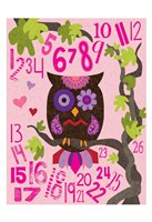 Owl Set Numlet Pinks 2 Fine-Art Print