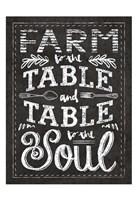 Farm Chalkboard 1 Fine-Art Print