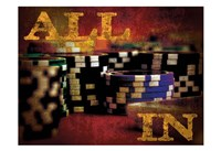 All In Casino Grunge 4 Fine-Art Print