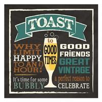 Toast Chalk 1 Fine-Art Print