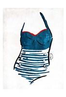 Vintage Swimsuit One Fine-Art Print