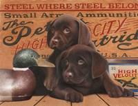 Hunting Puppies Fine-Art Print