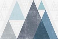 Mod Triangles I Blue Fine-Art Print