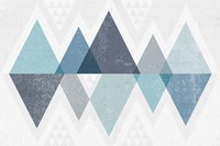 Mod Triangles II Blue Fine-Art Print